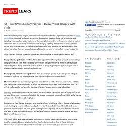50 Awesome WordPress Gallery Plugins