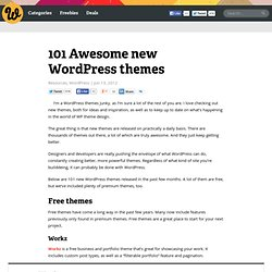 101 Awesome new WordPress themes