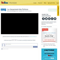Le classement des fictions - F. Marcadent