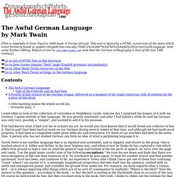 """The Awful German Language"" by Mark Twain"