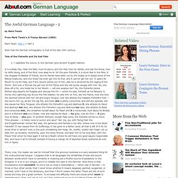 'The Awful German Language' by Mark Twain (2)