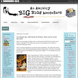 An Awfully Big Blog Adventure: To A Happier Year: LGBT Stories for Children, ...