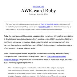 AWK-ward Ruby
