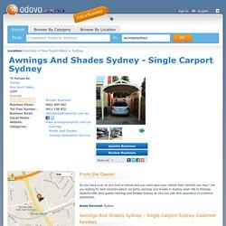 Awnings And Shades Sydney - Single Carport Sydney - 79 Ponyara Rd, Sydney, New South Wales, Australia