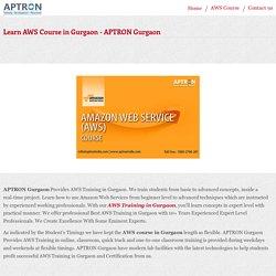 Learn AWS Course in Gurgaon - APTRON Gurgaon