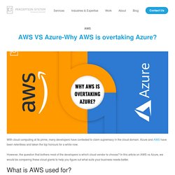 AWS VS Azure-Why AWS is overtaking Azure? - Perception System