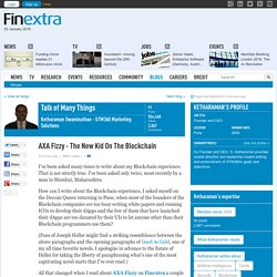 AXA Fizzy - The New Kid On The Blockchain