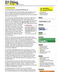 Axel Springer mahnt BILDblog ab