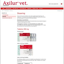 Axilur vet. - Dosering