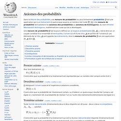 Axiomes des probabilités
