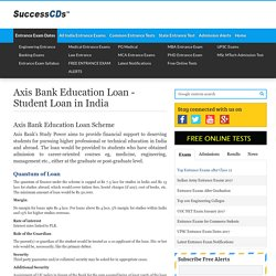 Axis Bank Education Loan - Student Loan in India