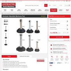 Buy Axminster Adjustable Machinery Feet from Axminster, fast delivery for the UK
