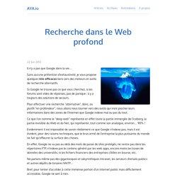 AYA.io - Recherche dans le Web profond