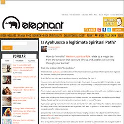 Is Ayahuasca a legitimate Spiritual Path?