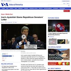 Iran's Ayatollah Slams Republican Senators' Letter
