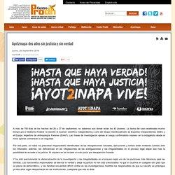 Ayotzinapa: dos años sin justicia y sin verdad