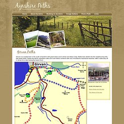 Ayrshire Paths - Walking, Hiking and Cycling in Ayrshire - Girvan Town, Pinmore, Dow Hill, Byne Hill, Laggan Walk, Path to Barr