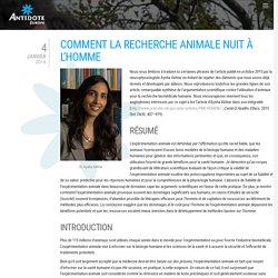 Aysha Akhtar : comment la recherche animale nuit à l'homme