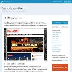 Ayuda para el tema MH Magazine en WordPress.com