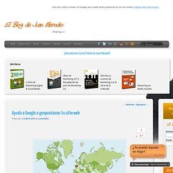 Ayuda a Google a geoposicionar tu sitio web