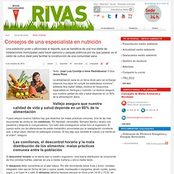 Ayuntamiento Rivas Vaciamadrid - Temas de interés - Consejos de una especialista en nutrición