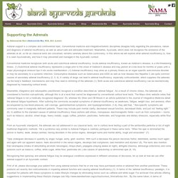 Alandi Ayurveda Gurukula - Supporting the Adrenals