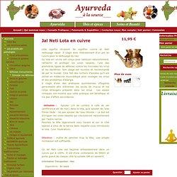 Ayurveda à la source - produits ayurvédiques jal Neti Lota en cuivre Ayurveda à la source - produits ayurvédiques