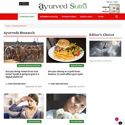Ayurveda Latest Research