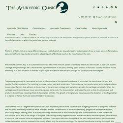 The Ayurvedic ClinicArthritis (Rakta Vata)