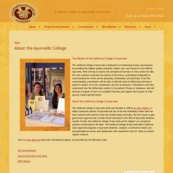 About the Ayurvedic College