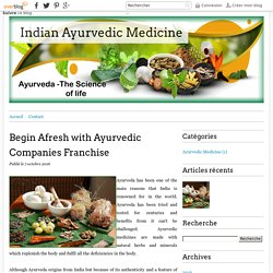 Begin Afresh with Ayurvedic Companies Franchise - Indian Ayurvedic Medicine