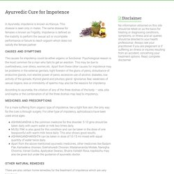 Ayurvedic Cure for Impotence