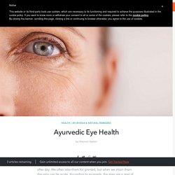 Ayurvedic Eye Health