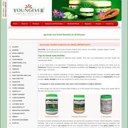Ayurvedic-Herbal medicine for MALE INFERTILITY-Youngever Nature Solutions