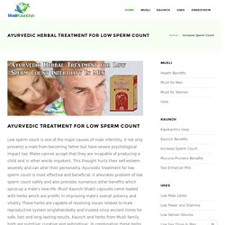 Ayurvedic Herbal Treatment for Low Sperm Count Infertility In Men