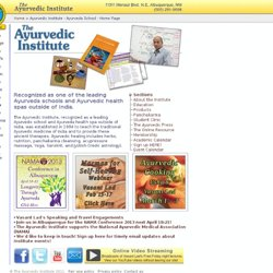 Ayurvedic Institute - Ayurveda School - Home Page