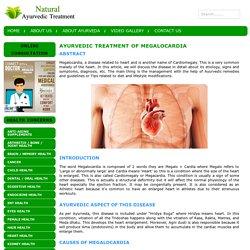 Ayurvedic Treatment of Megalocardia