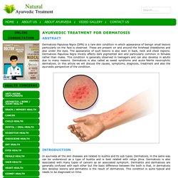 Ayurvedic Treatment for Dermatosis