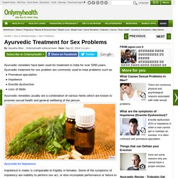 Ayurvedic Treatment for Sex Problems