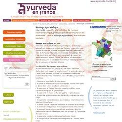 AYURVEDA FRANCE - Massage ayurvédique - une technique de massage traditionnel spécifique à l'Ayurveda