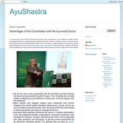 Advantages of the Consultation with the Ayurveda Doctor