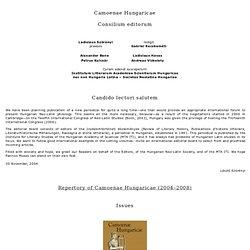 Camoenae Hungaricae