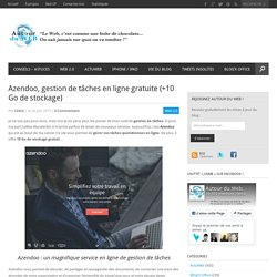 Azendoo, gestion de tâches en ligne gratuite (+10 Go de stockage)
