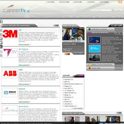 Elenco Aziende che assumono « CareerTV.it