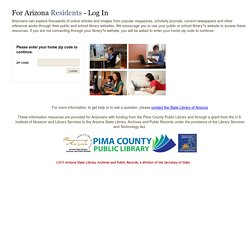 AZlibrary - For Arizona Residents - Login