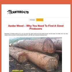 Azobe Wood – Why You Need To Find A Good Producers