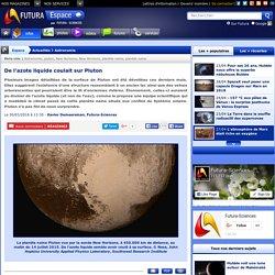 De l'azote liquide coulait sur Pluton