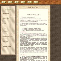 AZOTH : Alchimie Spirituelle.