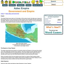 Aztec Empire for Kids: Government and Empire