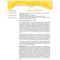Aztec Mythology: Gods and Myth